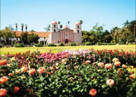 The Santa Barbara Mission and Mission Rose Garden