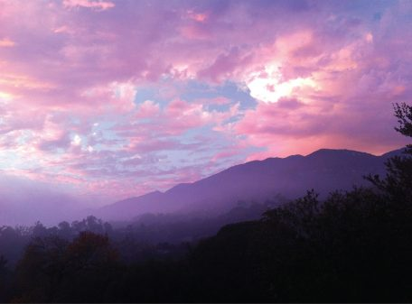 Sunset in the foothills, Santa Barbara, California