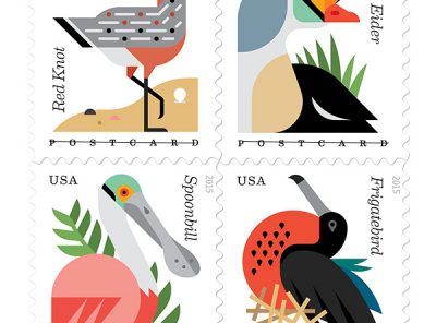 Coastal Bird Forever Postcard Stamps