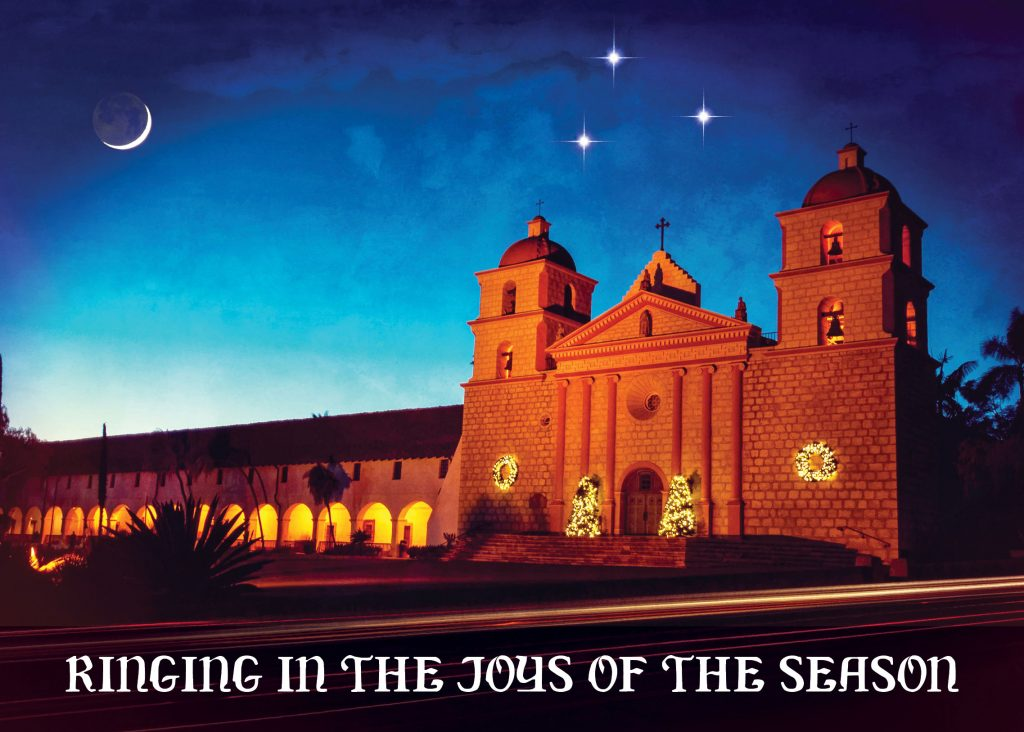 Santa Barbara Mission Christmas card