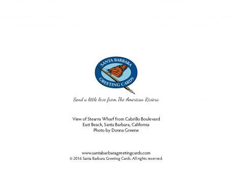 Palm Tree Sunset Notecard by Santa Barbara Greeting Cards